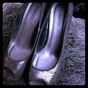 Maurice's Pewter Pumps